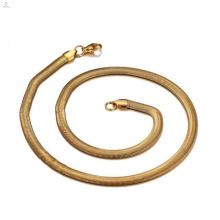 24k золото 316 Нержавеющая сталь Змея ожерелье цепь