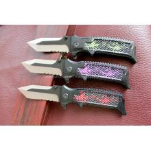 Cuchillo de aluminio de la manija que acampa (SE-0514)