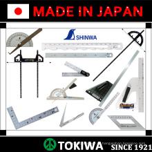 Точные измерительные инструменты и правила для использования в строительстве. Изготовленный Синва. Сделано в Японии (линейка из нержавеющей стали 2м)