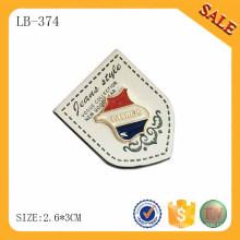 LB374 Remiendos de cuero de encargo de la ropa del color blanco