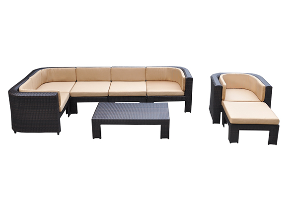 Garden Patio Ottomans Set
