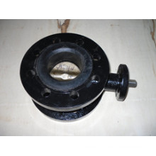 Cast Iron Body-Double Flange Butterfly Valve