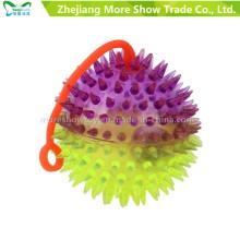 Novelty Colorful Puffer Yoyo Spicky Toys Light up Ball