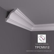 Einfache Montage PU Dekorative Crown Molding für Haus