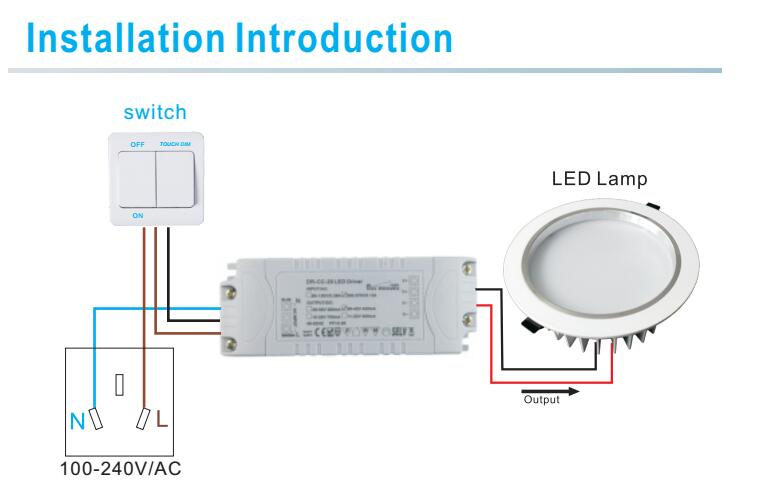 push dimmable constant current led driver