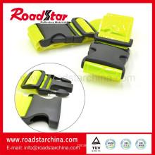 Fluorescente alta visibilidad reflectante cinturón para correr