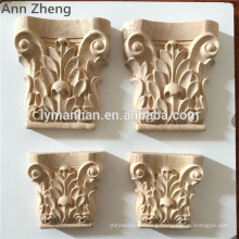 Wood Carved post Traditional Wood Capitals Column