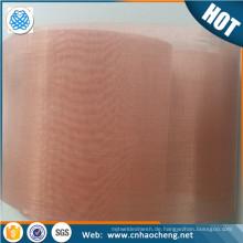 EMF abschirmendes Material 150 Mikron rotes Kupfermetallmaschen- / Filtertuch