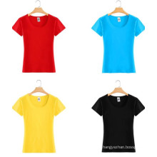 Top Quality Cheap Fitted Fashion Cotton Girl Tee T Shirt