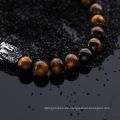 Edelstahl Tiger Eye Stein Buddha Armband Schmuck