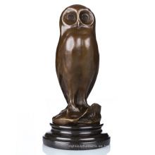 Animal Home Deco pájaro metal artesanía búho artware latón escultura estatua Tpal-172