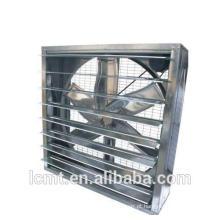 As aves utilizaram ventilador axial quadrado para resfriar o ventilador