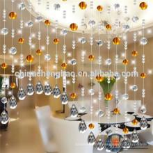 Cortina cristalina de acrílico del grano de la fantasía de la decoración caliente del hogar de la venta