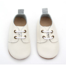 wholesale toddler children kids genuine leather white school shoes