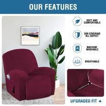 Fundas reclinables elásticas teñidas Funda para silla de oficina reclinable