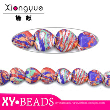 Hot Sale Rainbow Heart Gemstone Beads For Jewellery Making