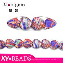 Venda quente Rainbow coração grânulos de Gemstone para fabricação de jóias