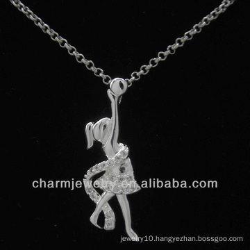 Lovely Silver Plated Angel Pendant 2013 PSS-023