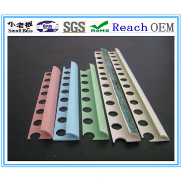 PVC Tile Trim, Unicolor PVC Tile Trim, Porcelain Tile Trim