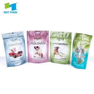 Sacos Ziplock Stand Up para Pet Food