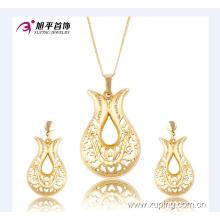 Xuping Luxury Dubai or ensemble de bijoux avec la conception de bijoux de mariage 63670