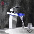 G007LED Waterfall bathroom faucet,basin faucet manufacturer wash basin taps