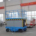 Elevador de tijera hidráulico portátil móvil 14m