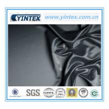 Tissu de soie finement satiné noir
