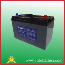 Bateria profunda do gel do ciclo de 135ah 12V para o Marchine do assoalho