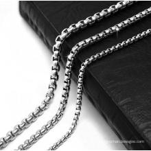 Link Chain Men Necklace Titanium Steel 2.5mm 3.5mm 4.5mm