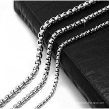 Aço Titanium da colar dos homens da corrente de ligação 2.5mm 3.5mm 4.5mm