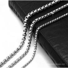 Звено цепи мужчин ожерелье титана сталь 2.5 мм 3.5 мм 4.5 мм