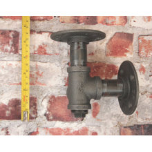 3/4 Inch Black Flange DN20 Four Holes Flange Iron Pipe Floor Fitting Plumbing Threaded Flange