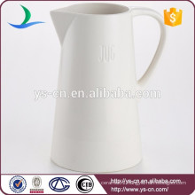 Hot sale white houseware ceramic wholesale pitcher customized logo