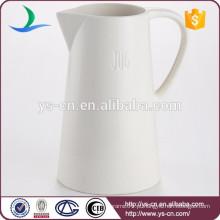 A venda quente branca houseware jarro de cerâmica atacado personalizado logotipo