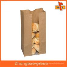 Recycelt Großhandel CPP / PE Kraftpapier Bäckerei Verpackung Tasche mit Kundenlogo