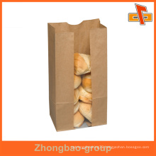 recycled wholesale CPP/PE kraft paper bakery packaging bag with customer logo