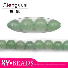Verte naturelle pierre semi-précieuse, perles en gros