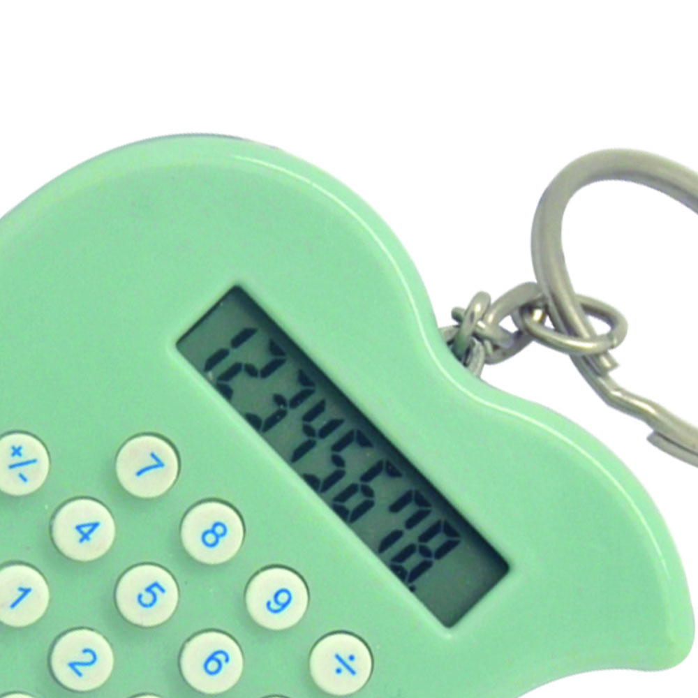 Mini Apple Shape Keychain Electronic Calculator