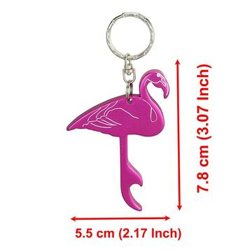 Swatom Flamingo Style Bottle Opener Key Tag