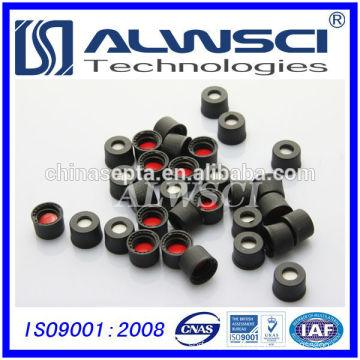8mm Black screw plastic Cap bottle cap with septa