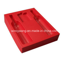 Produits en plastique à flocons rouges