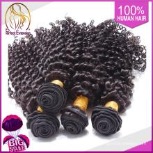 Weave chinês da cor # 613 da máquina de costura cabelo crespo Kinky de 28 polegadas