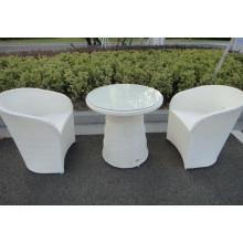 3pcs Bar muebles ocio al aire libre silla de comedor