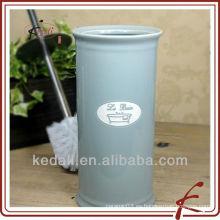 Nuevo sostenedor de cerámica del cepillo del tocador del embossment de la manera