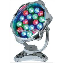 RGB lámpara llevada subacuática luces llevadas IP68 18W