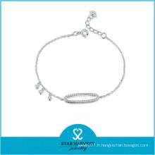 Bracelet fait main en argent sterling 925 (B-0022)