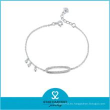 Pulsera de plata con mejores ventas para mujer (B-0022)
