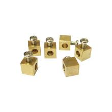 Brass cnc turned services M3 brass terminal contact, brass terminal block