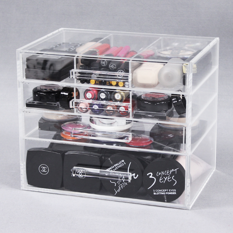 Clear Acrylic 4 Drawers Beauty Organiser